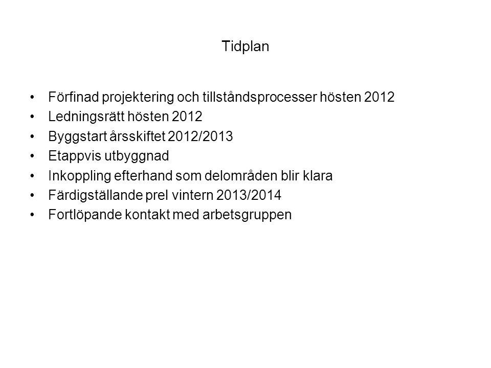 Anslutningsprocessen År 0-2 : Successiv anslutning År 2 : Avstämning med miljökontoret.