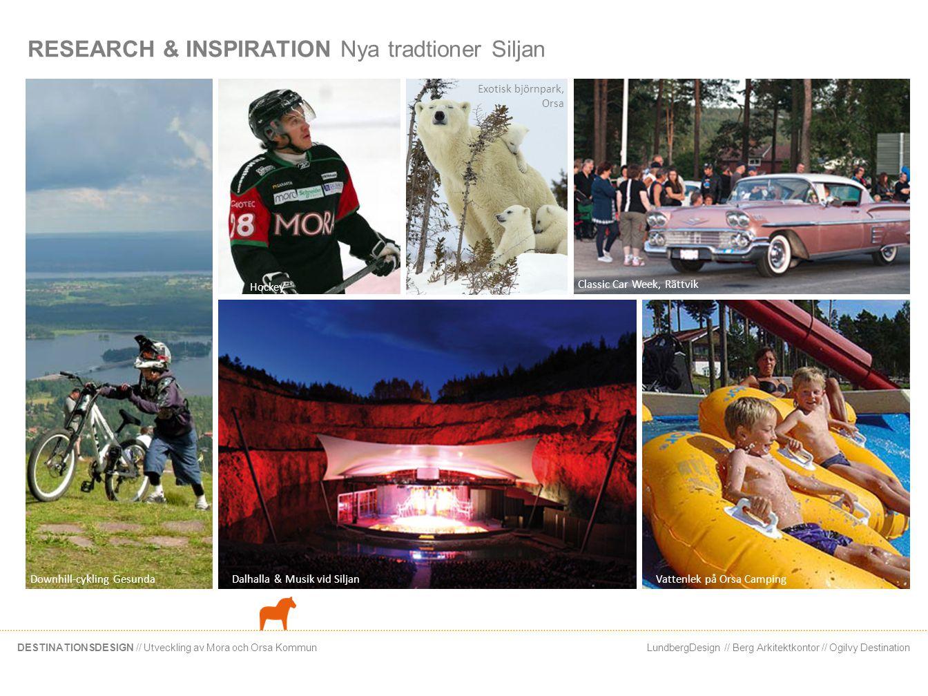 LundbergDesign // Berg Arkitektkontor // Ogilvy DestinationDESTINATIONSDESIGN // Utveckling av Mora och Orsa Kommun RESEARCH & INSPIRATION Nya tradtio