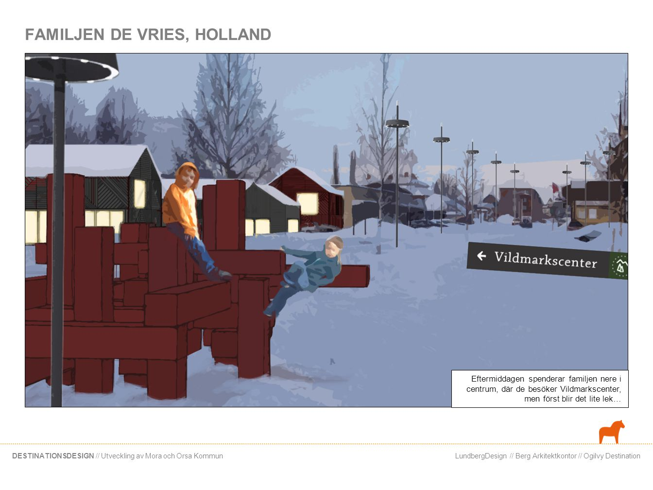 LundbergDesign // Berg Arkitektkontor // Ogilvy DestinationDESTINATIONSDESIGN // Utveckling av Mora och Orsa Kommun FAMILJEN DE VRIES, HOLLAND Eftermi
