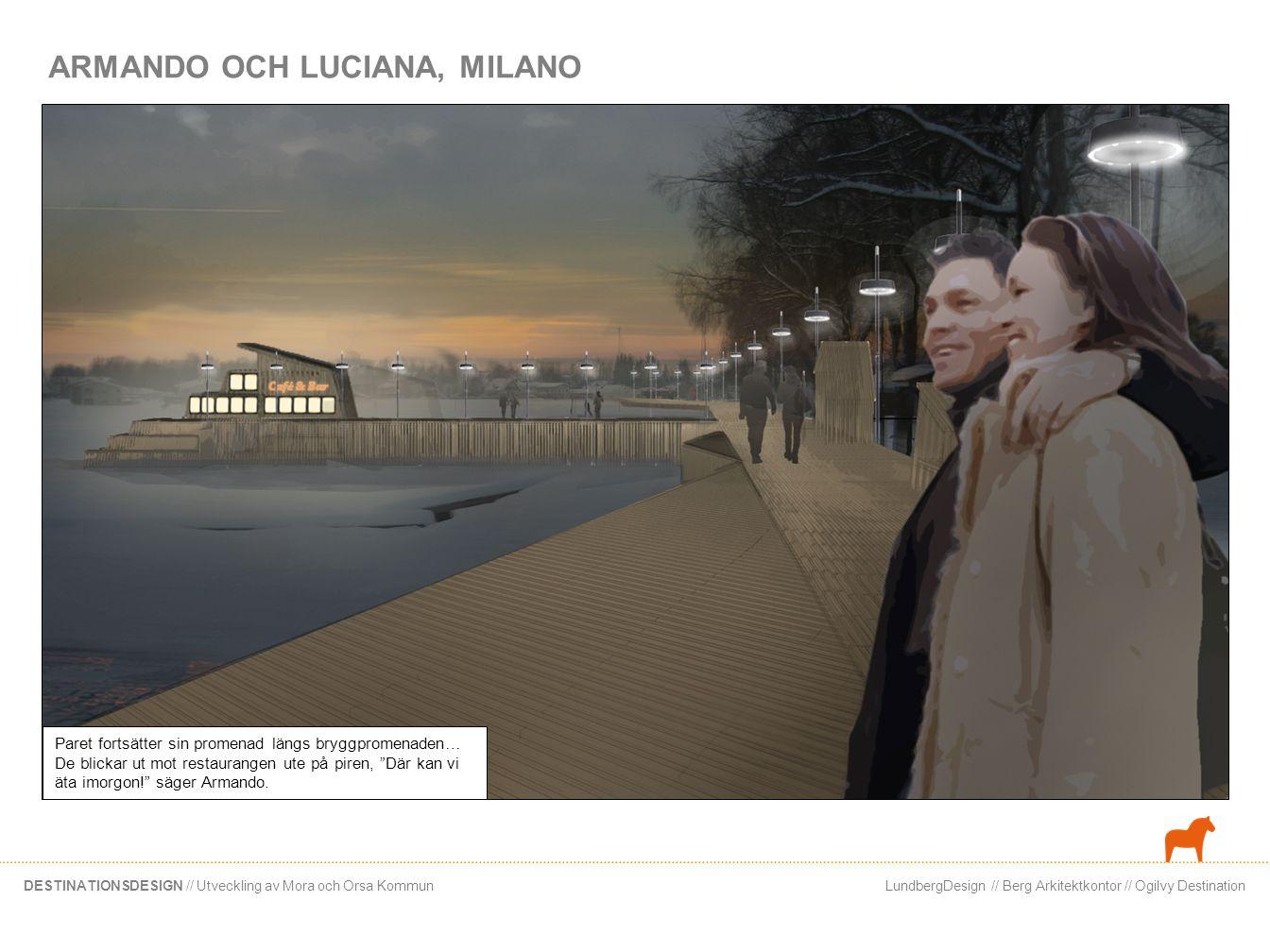 LundbergDesign // Berg Arkitektkontor // Ogilvy DestinationDESTINATIONSDESIGN // Utveckling av Mora och Orsa Kommun Story 3 Syfte: Visa olika upplevelsemöjligheter Siljan, enligt de 4 typerna Kompisgäng i 20-årsåldern.