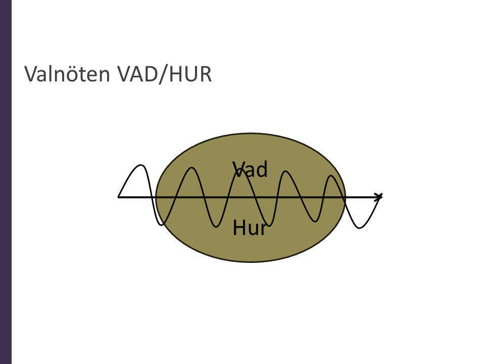 Valnöten VAD/HUR Vad Hur