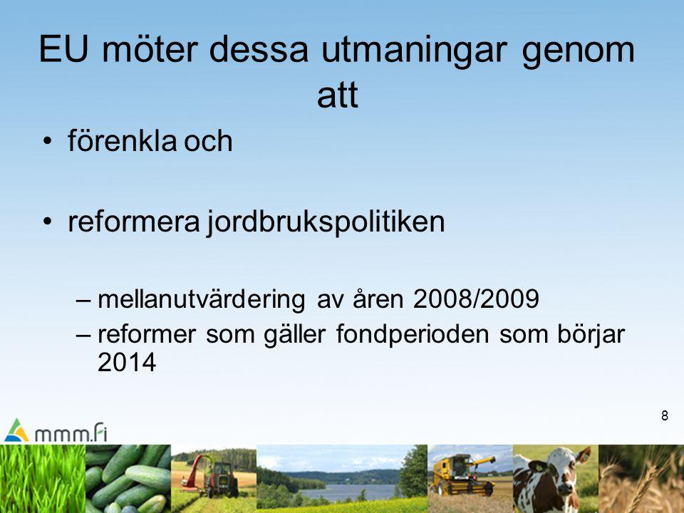 19 LFA i korthet -LFA-status 2007-2013 -bergsområde (52 % av åkerarealen i Finland) -övriga områden med nackdelar (48%) (övriga områden indelades tidigare i övriga områden med naturbetingade nackdelar och i områden med särskilda naturbetingade nackdelar) -kompensationsbidrag kan uppgå till högst ca 250 €/ha -i Finland utbetalas LFA fullt ut; delfinansierat LFA utbetalas ca 194 €/ha, och därtill utbetalas nationell tilläggsdel till kompensationsbidraget