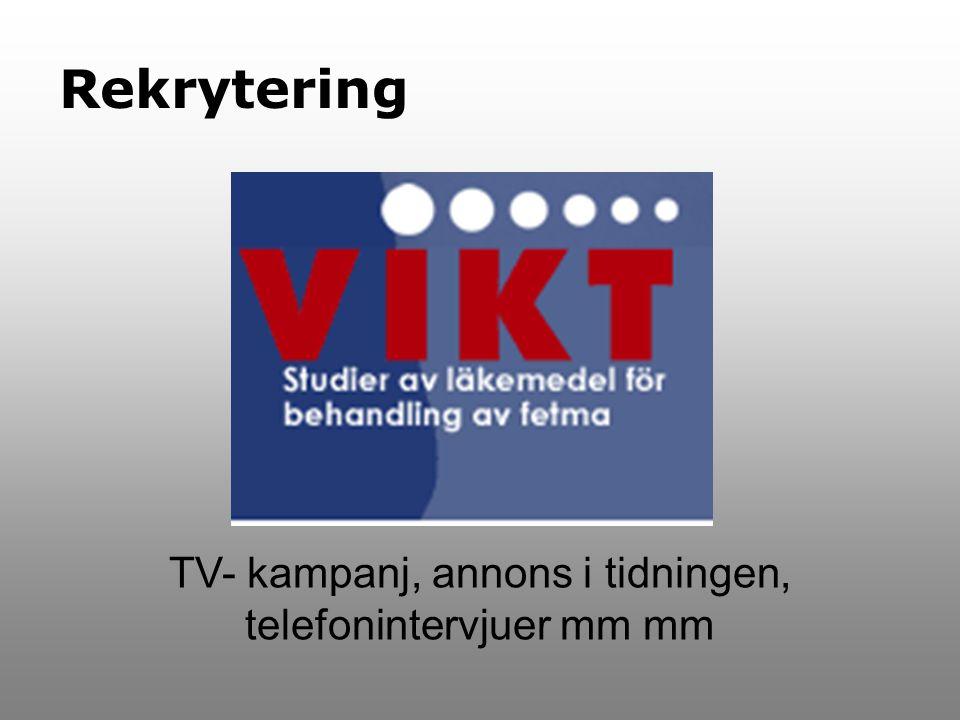 TV- kampanj, annons i tidningen, telefonintervjuer mm mm Rekrytering