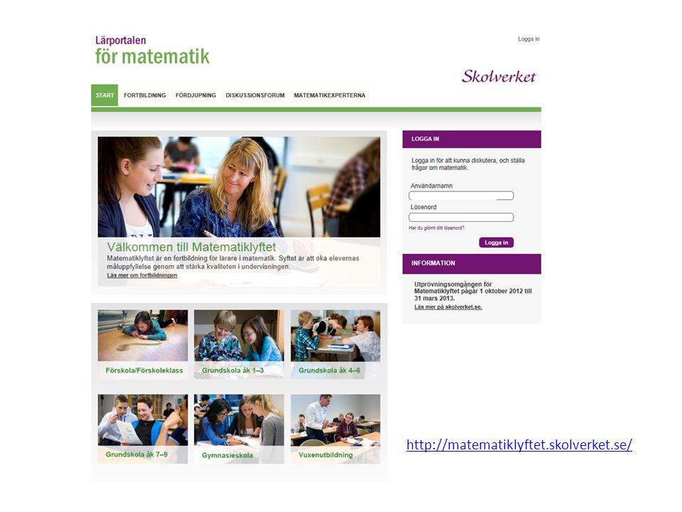 http://matematiklyftet.skolverket.se/