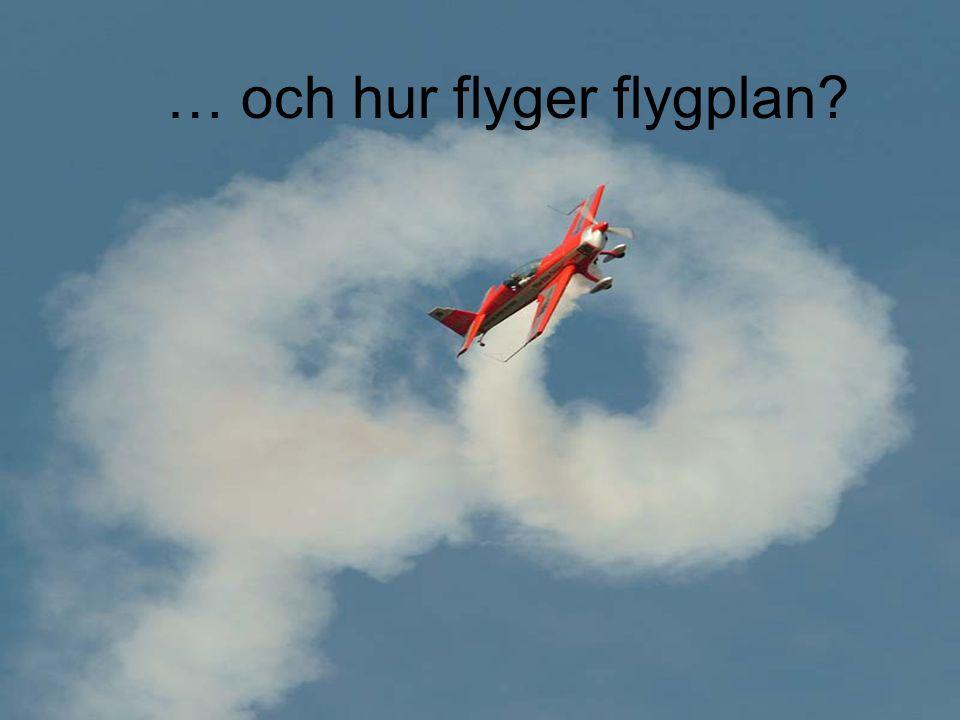 … och hur flyger flygplan?