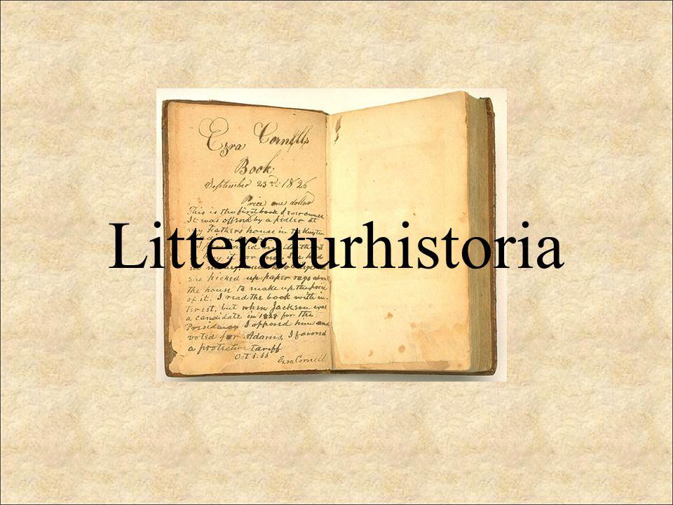 Litteraturhistorien handlar om: hur människan genom litteraturen upptäcker nya verkligheter och hur sätten att beskriva verkligheten växer hur genrer och litterära grepp uppstår och utvecklas hur olika stilgrepp formar och skapar förutsättningar för skapande om de villkor under vilka utvecklingen sker – hur författarna levde och hur människan och samhället skildras Litteraturhistoria är TEXTER