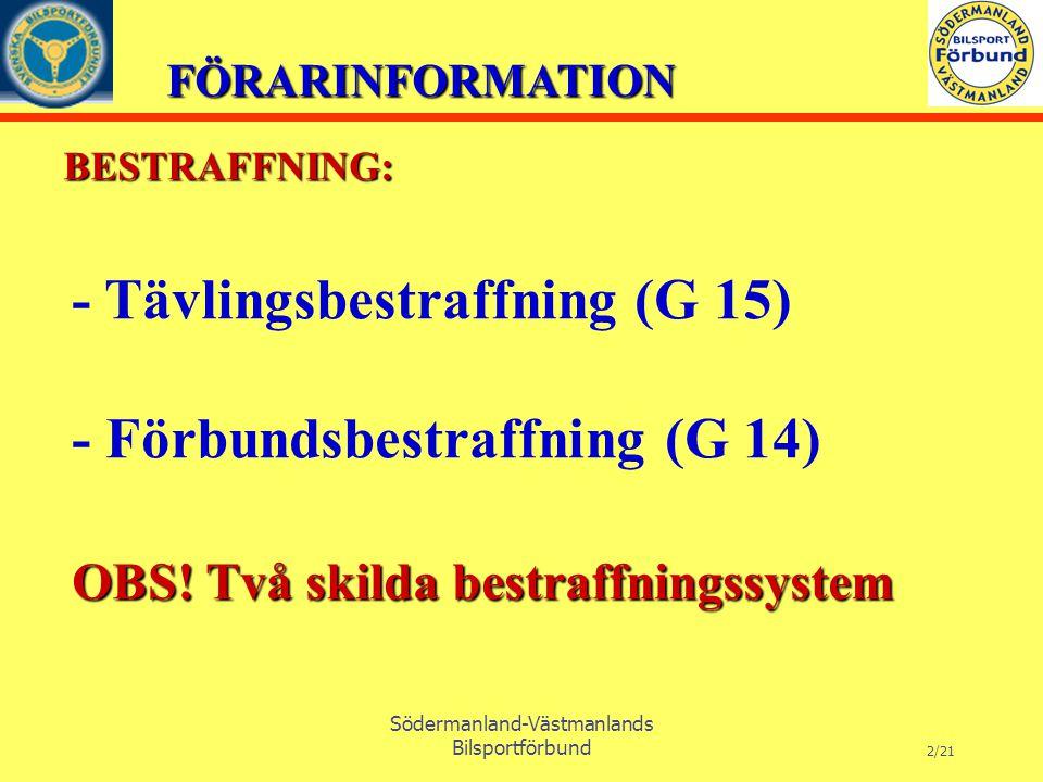 FÖRARINFORMATION Södermanland-Västmanlands Bilsportförbund 13/21 Innehåll.