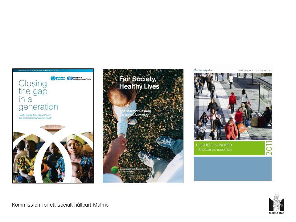 7228%100% 59% 84% 24 Skillnader Behörighet till gymnasiet Valdeltagande 39 66%27% Lågt socialt deltagande 38 39%77%Förvärvsarbetande 22 7320% 93% Simkunnighet 25 LägstHögstSkillnad 7.4 74.4 år81.8 år Medellivslängd Källa: Ur välfärdsredovisningen för Malmö 2010 11% 61% Barnfattigdom50 Malmö 2012 01 11