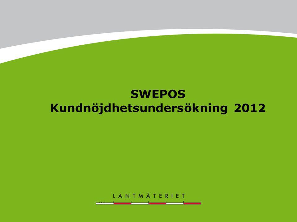 SWEPOS Kundnöjdhetsundersökning 2012