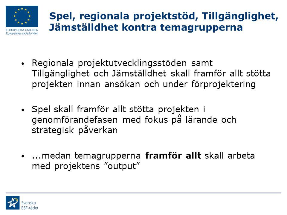 I.Metodstöd II. Lärprocess i regionerna III.