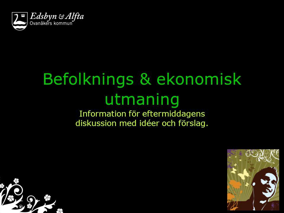 Befolkning i backspegeln Ovanåkers kommun Befolkningsutveckling 1990-2009 Källa SCB