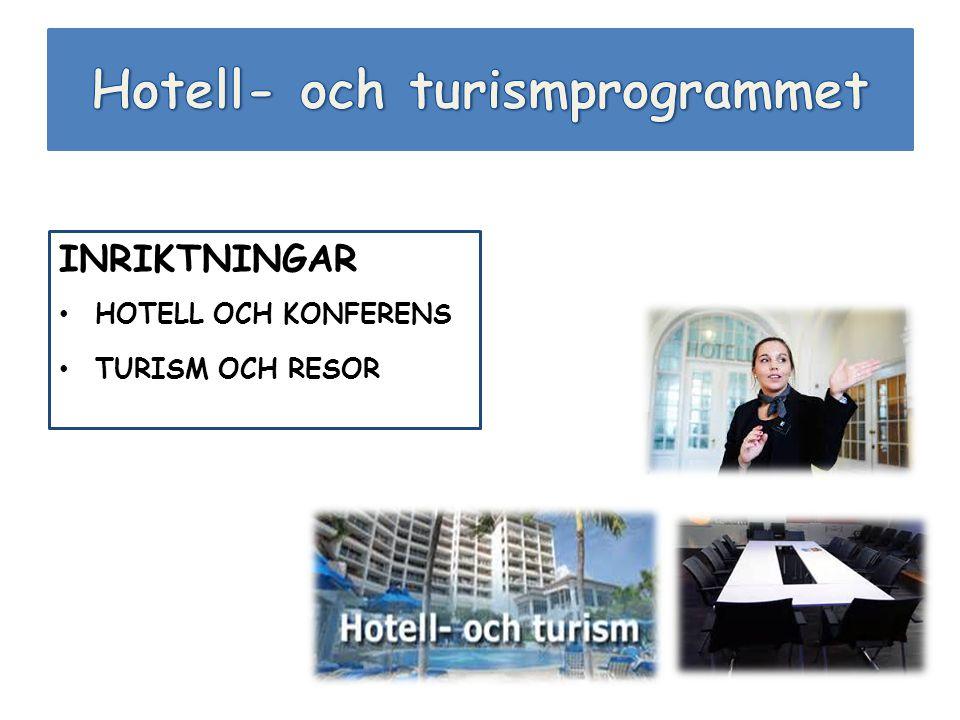 INRIKTNINGAR HOTELL OCH KONFERENS TURISM OCH RESOR