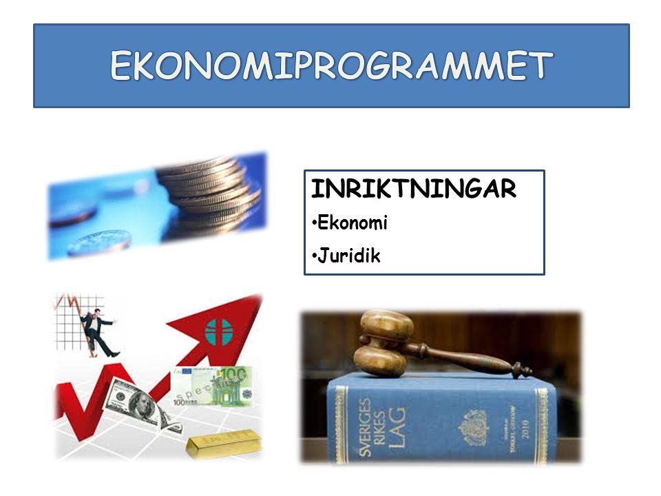 INRIKTNINGAR Ekonomi Juridik