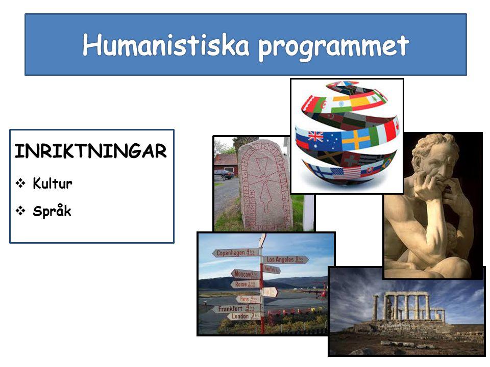 INRIKTNINGAR  Kultur  Språk