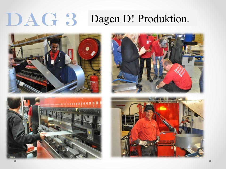 Dagen D! Produktion. Dag 3