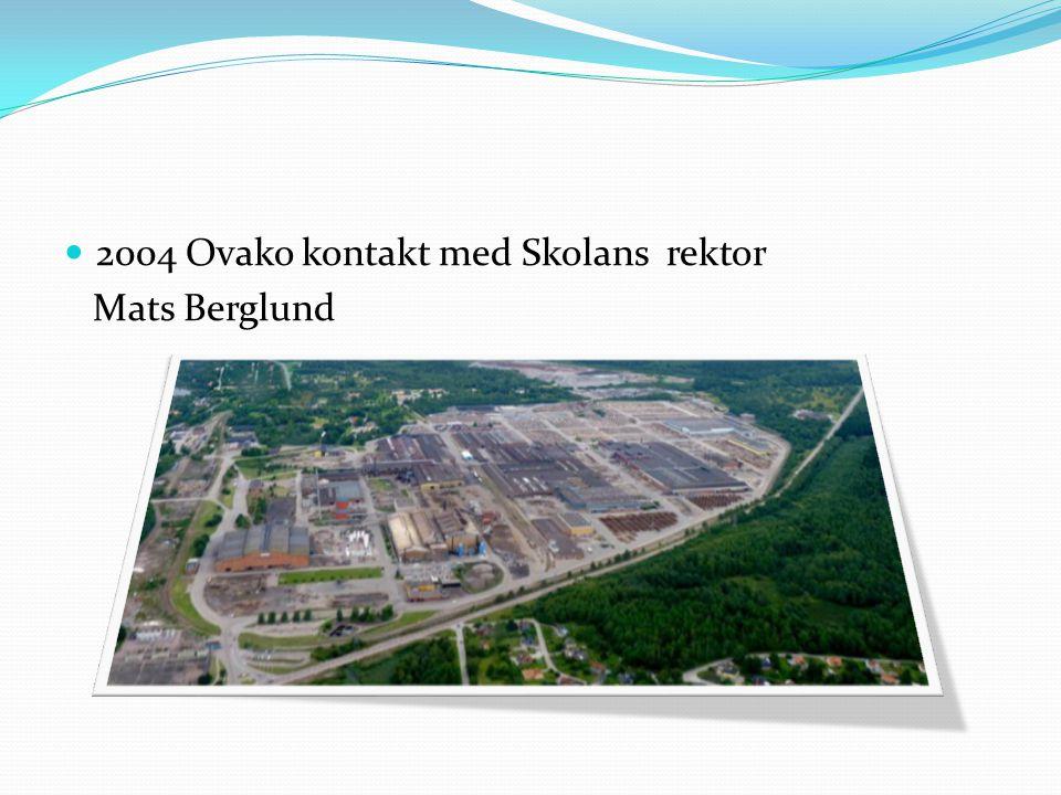2004 Ovako kontakt med Skolans rektor Mats Berglund