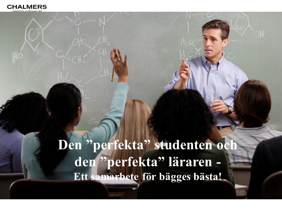 Den perfekta studenten och den perfekta läraren - Ett samarbete för bägges bästa!