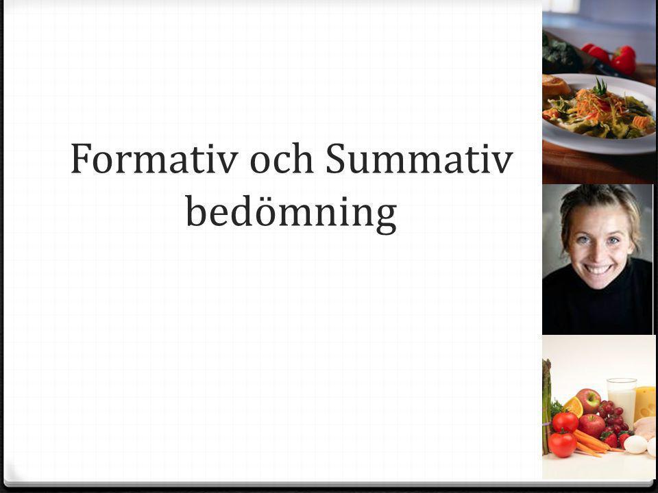 Formativ och Summativ bedömning