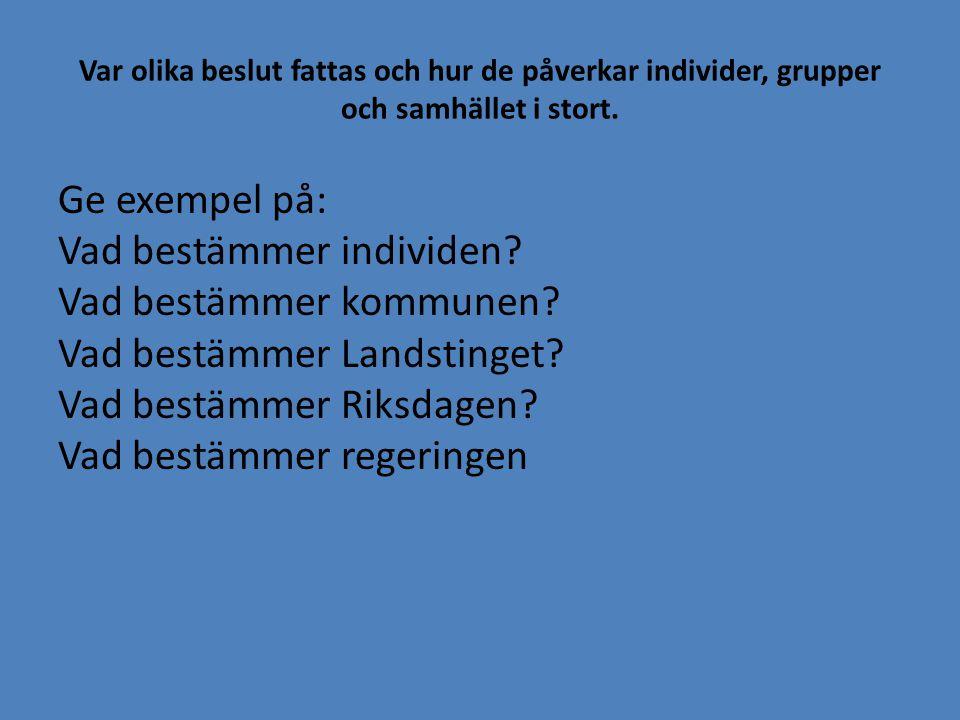 Hur går val i Sverige till.Här ska du beskriva vad du kan om hur valet går till.