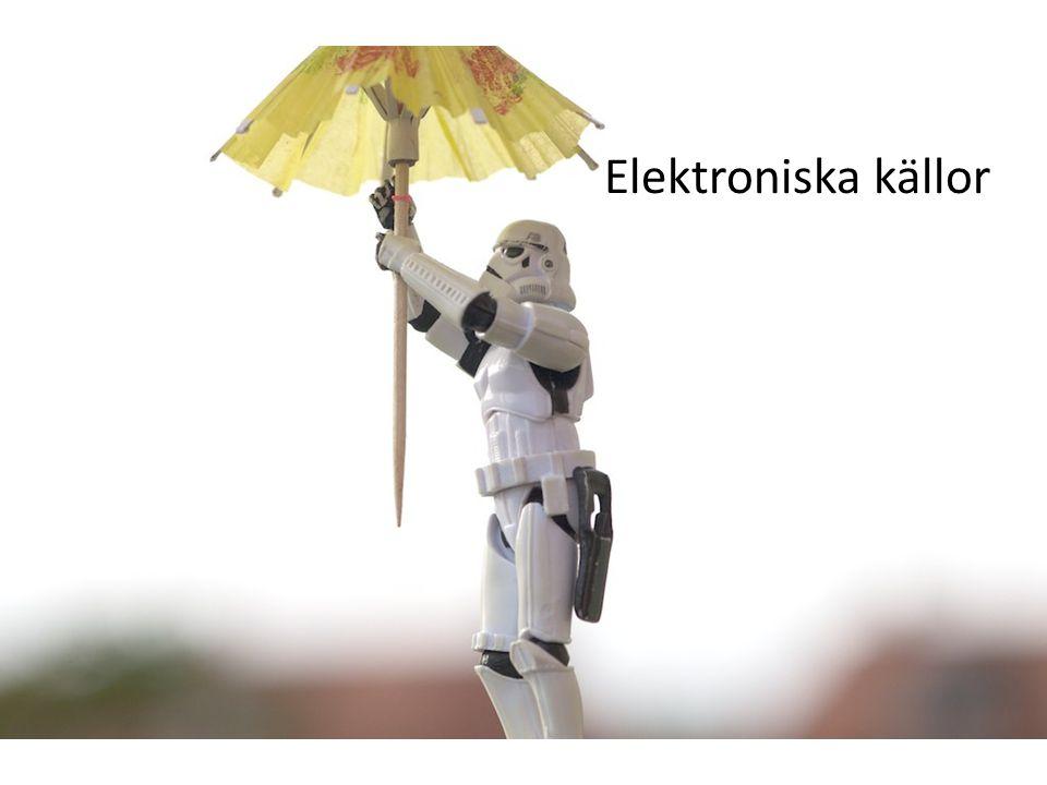Elektroniska källor