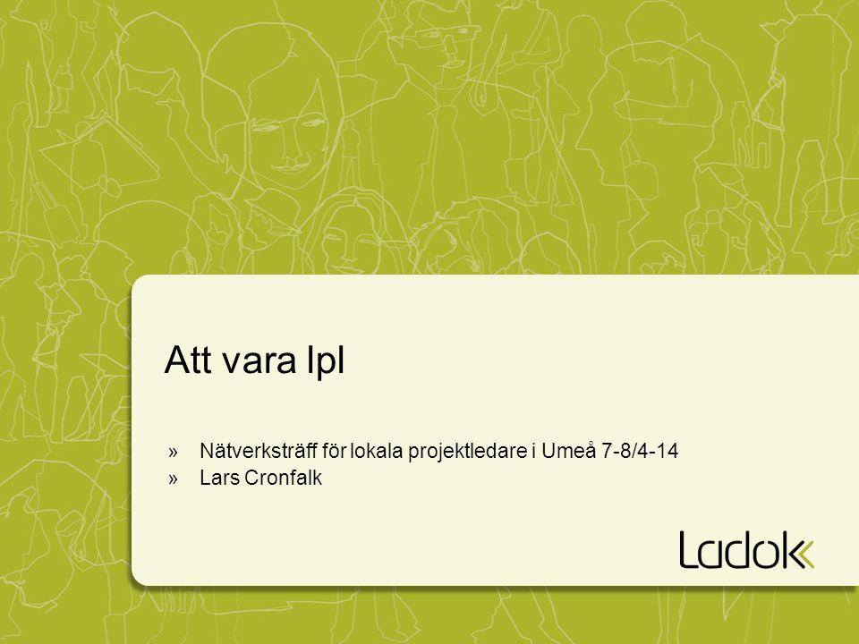 Att vara lpl »Nätverksträff för lokala projektledare i Umeå 7-8/4-14 »Lars Cronfalk