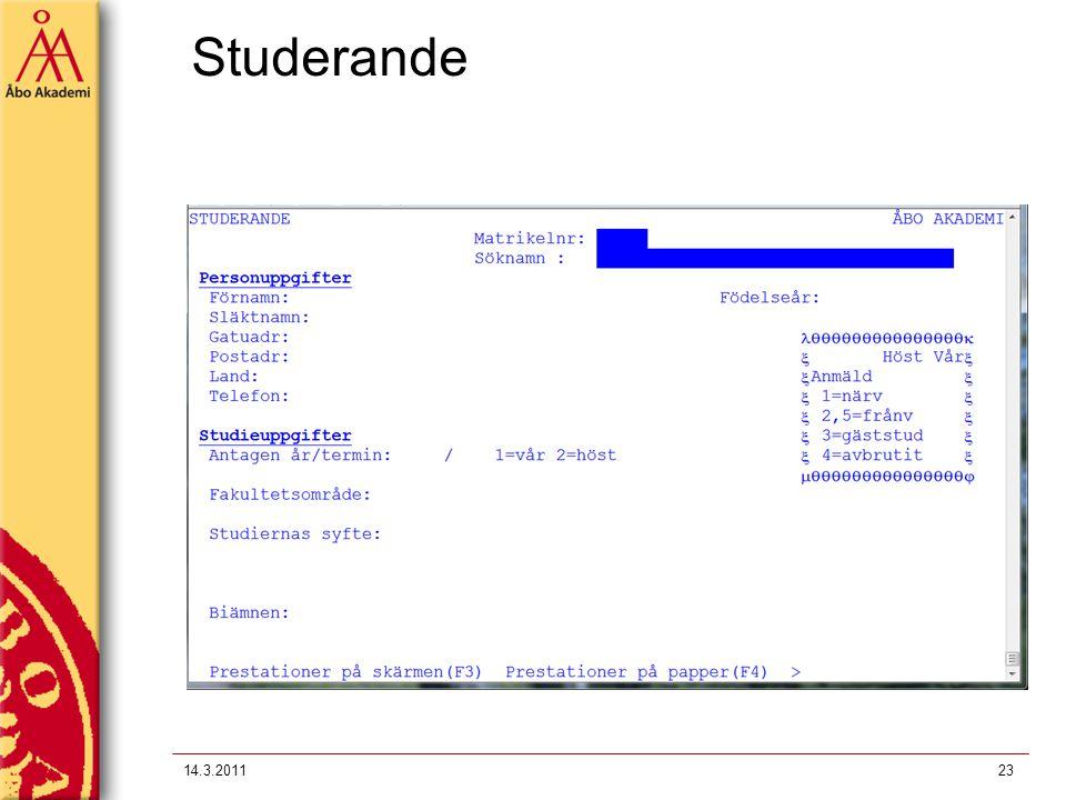 Studerande 14.3.201123
