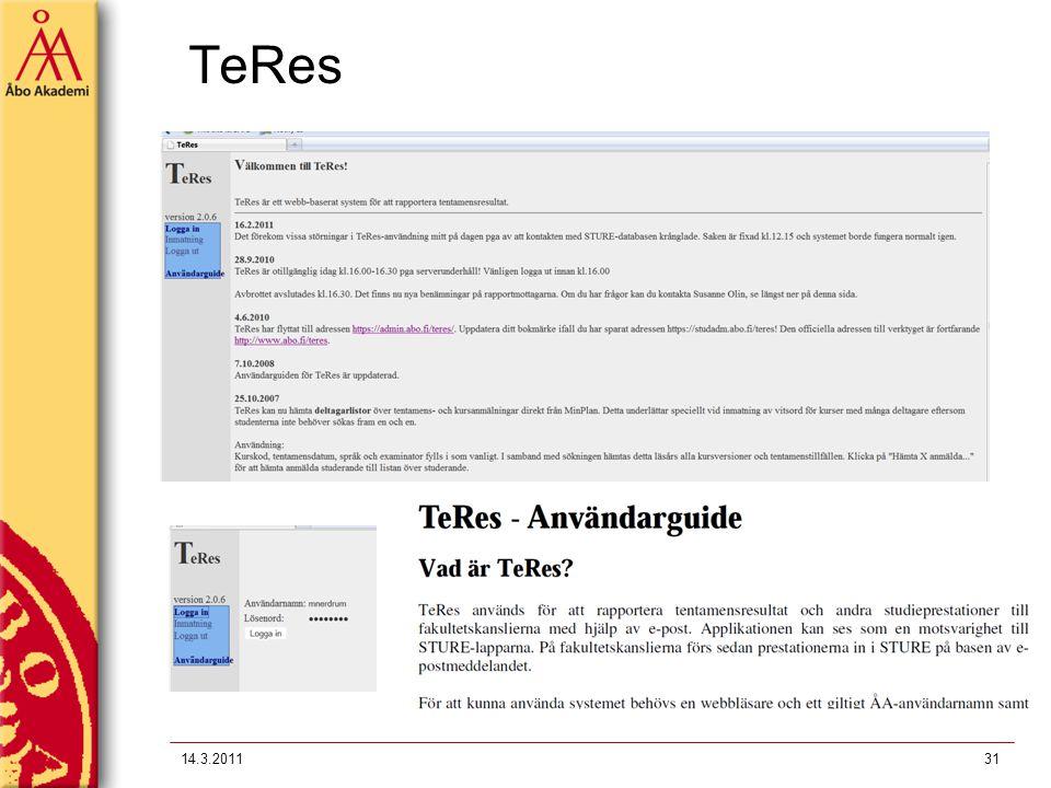TeRes 14.3.201131