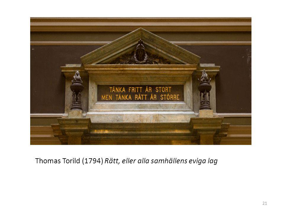 Thomas Torild (1794) Rätt, eller alla samhällens eviga lag 21