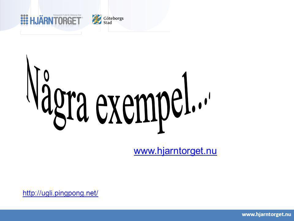 www.hjarntorget.nu http://ugli.pingpong.net/