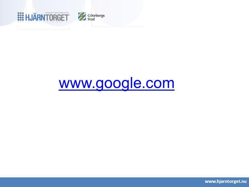 www.hjarntorget.nu www.google.com