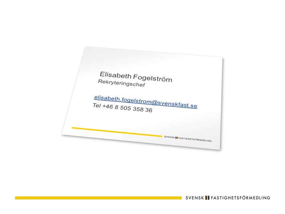 Du som sökande registrerar din ansökan på www.svenskfast.se www.svenskfast.se Sök specifika tjänster och/eller gör en spontanansökan.