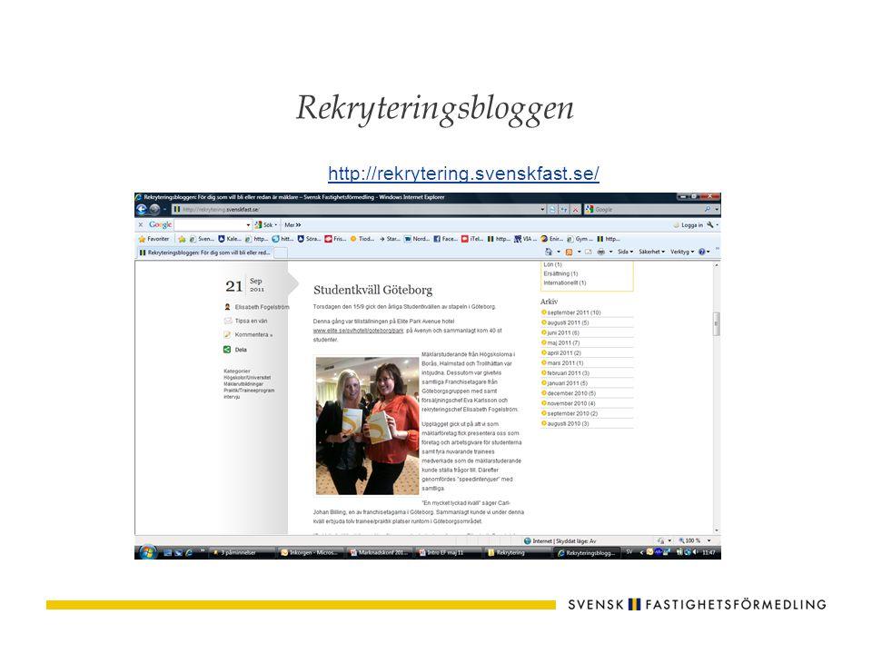 Karriärsida på Facebook www.facebook.com/svenskfastkarriar