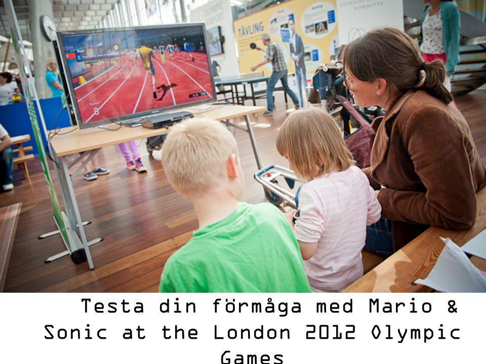 Testa din förmåga med Mario & Sonic at the London 2012 Olympic Games
