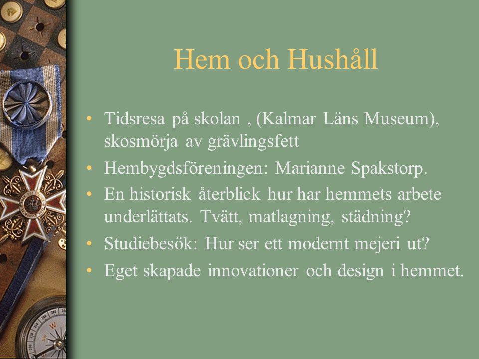 Hem och Hushåll Tidsresa på skolan, (Kalmar Läns Museum), skosmörja av grävlingsfett Hembygdsföreningen: Marianne Spakstorp. En historisk återblick hu
