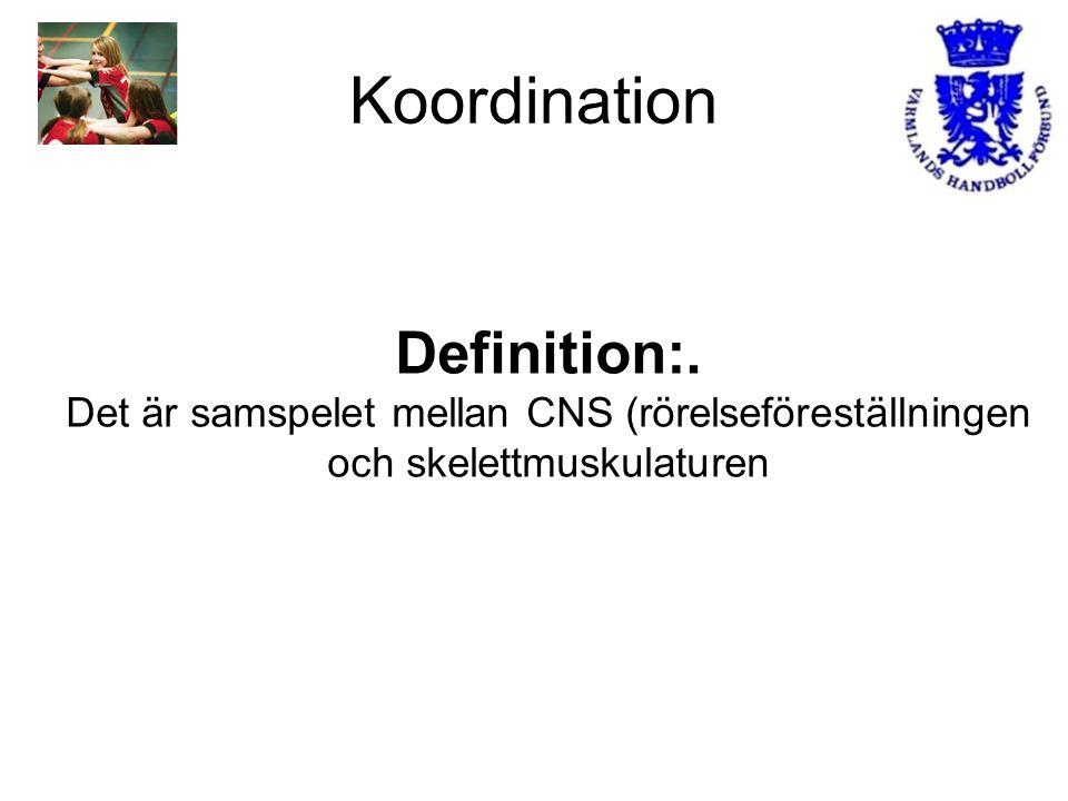Koordination Definition:.