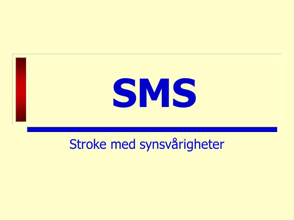 SMS Stroke med synsvårigheter