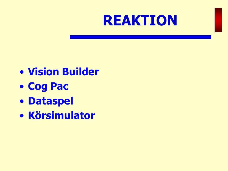 REAKTION Vision Builder Cog Pac Dataspel Körsimulator