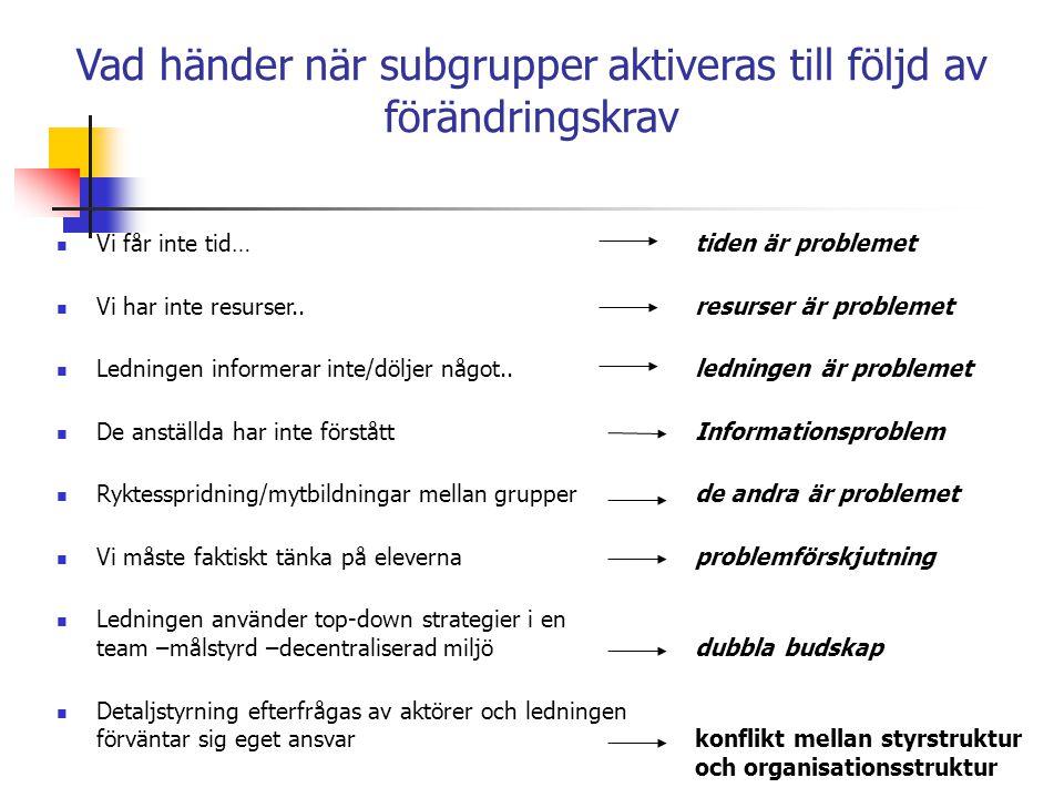Konflikter i skolan klassificeras ofta som personliga konflikter (Arwedsson) Lärare har skolats i en individpsykologisk syn på hur de ser på sin yrkesroll.