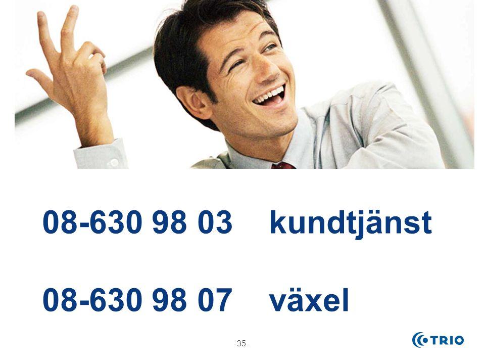 35. 08-630 98 03 kundtjänst 08-630 98 07 växel