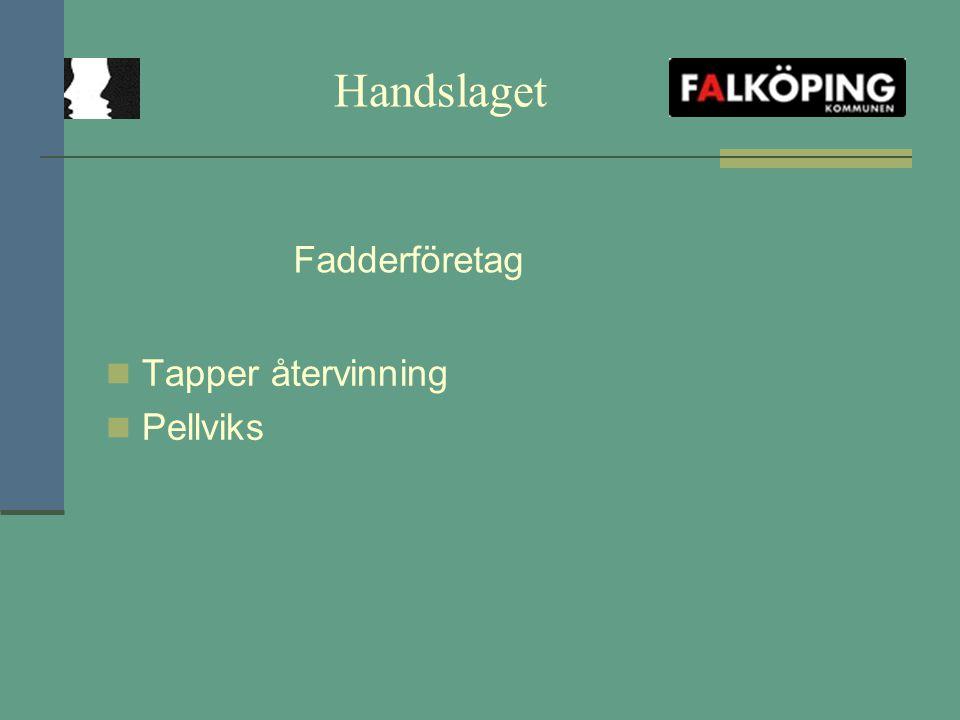 Handslaget Tapper återvinning Pellviks Fadderföretag