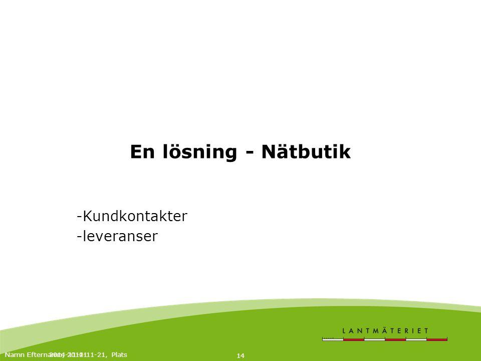 2014-11-21 15 Beslut I-ledning 12/3 2012 Bygg en e-handelsplattform som anpassas och integreras mot nya och befintliga applikationer och bastjänster.