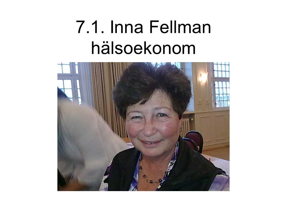 7.1. Inna Fellman hälsoekonom