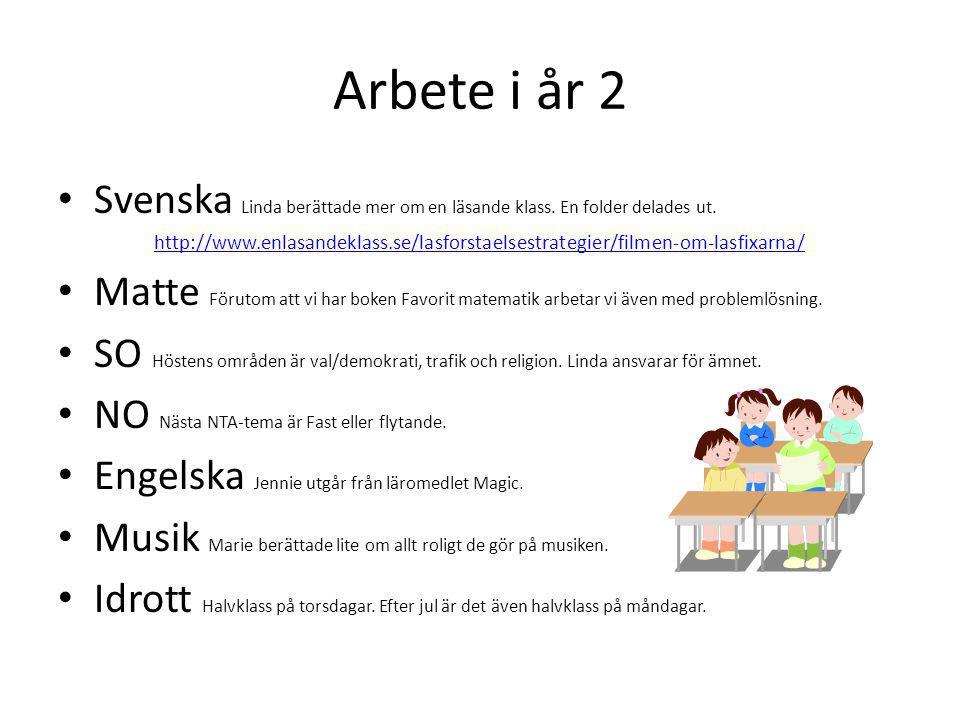 Arbete i år 2 Svenska Linda berättade mer om en läsande klass.