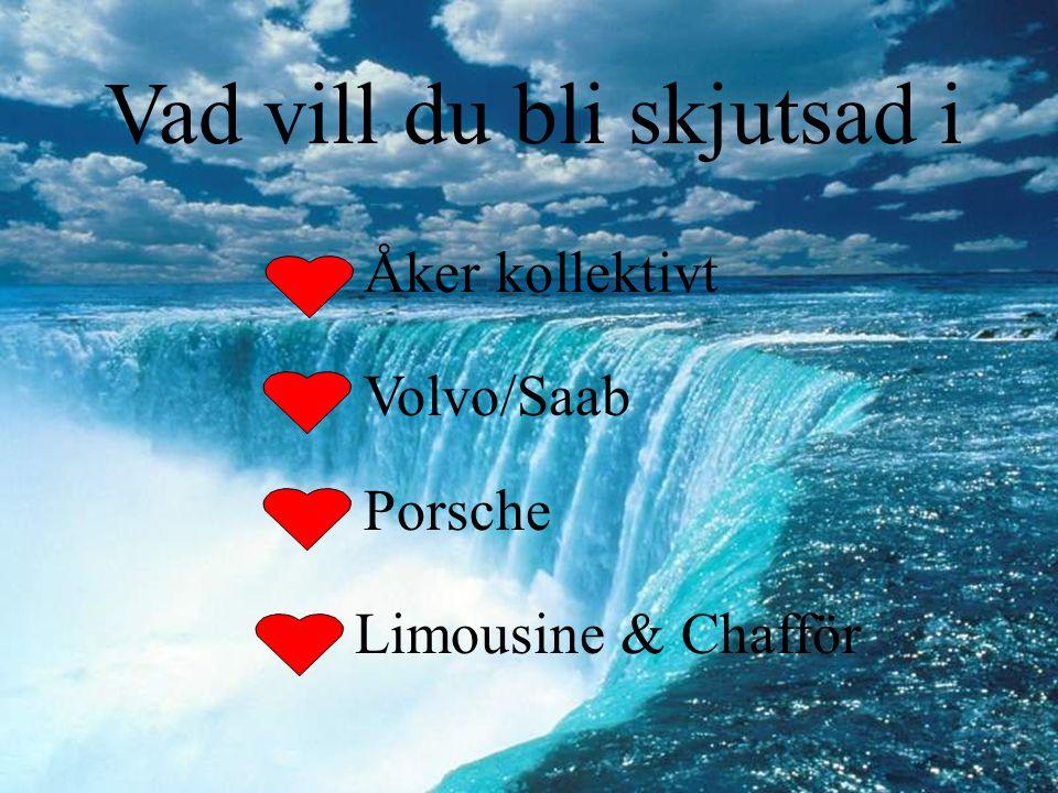 Vad vill du bli skjutsad i Åker kollektivt Volvo/Saab Porsche Limousine & Chafför