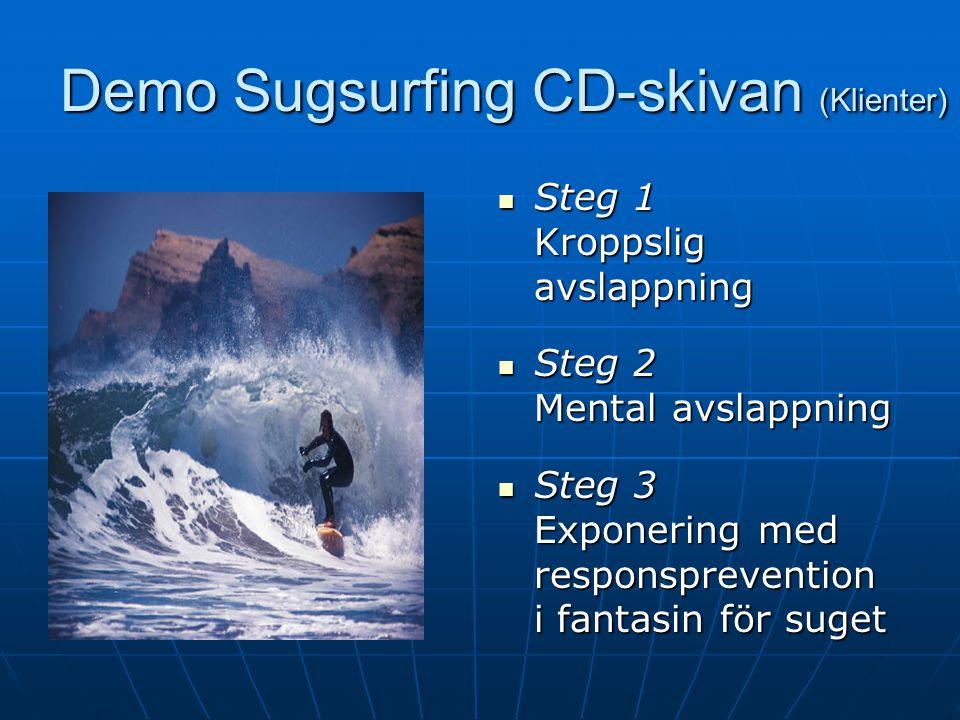 Sugsurfing (Klienter) Kognitiv teknik Använd stödjande självprat, som Det här är bara sug.
