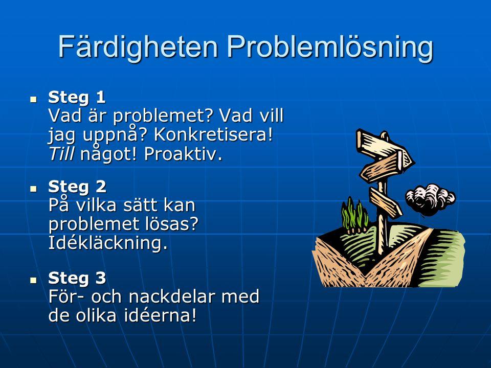 Presentation av arbetsbladet 1) Gå igenom de olika steg (berätta) (berätta) 2) Demonstrera 3) Arbeta med klienten/erna 4) Hemuppgift