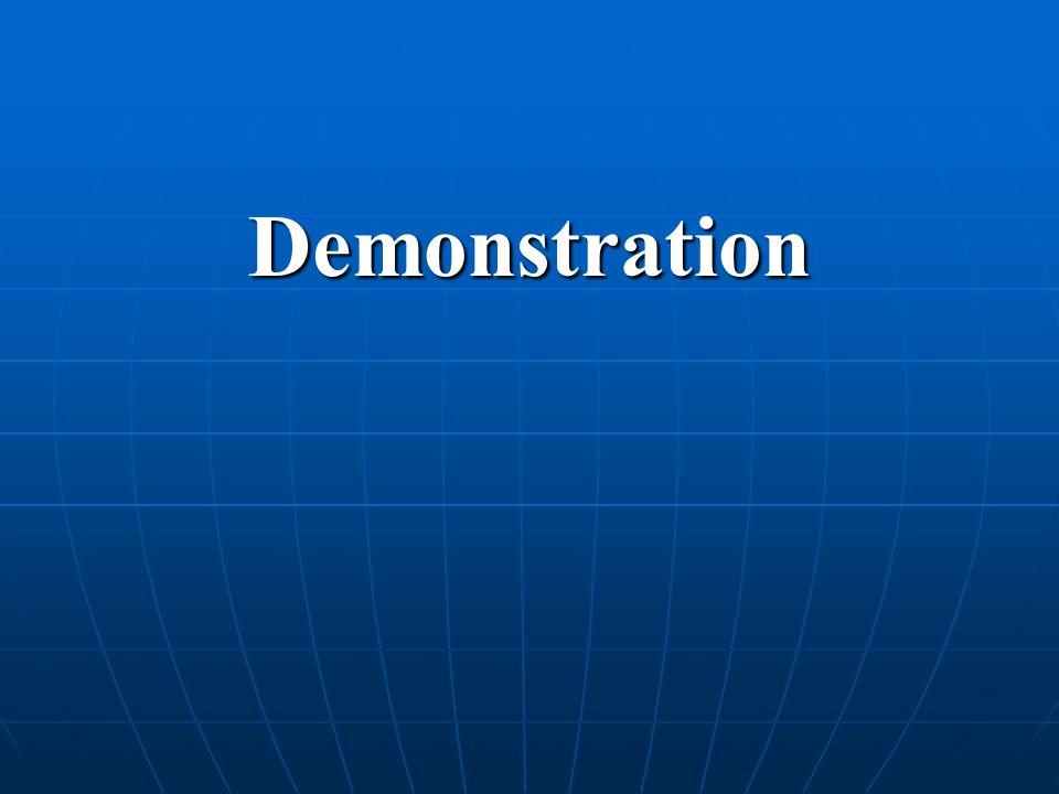 Demonstration: Hur göra.Till kollegor Berätta om de olika steg.