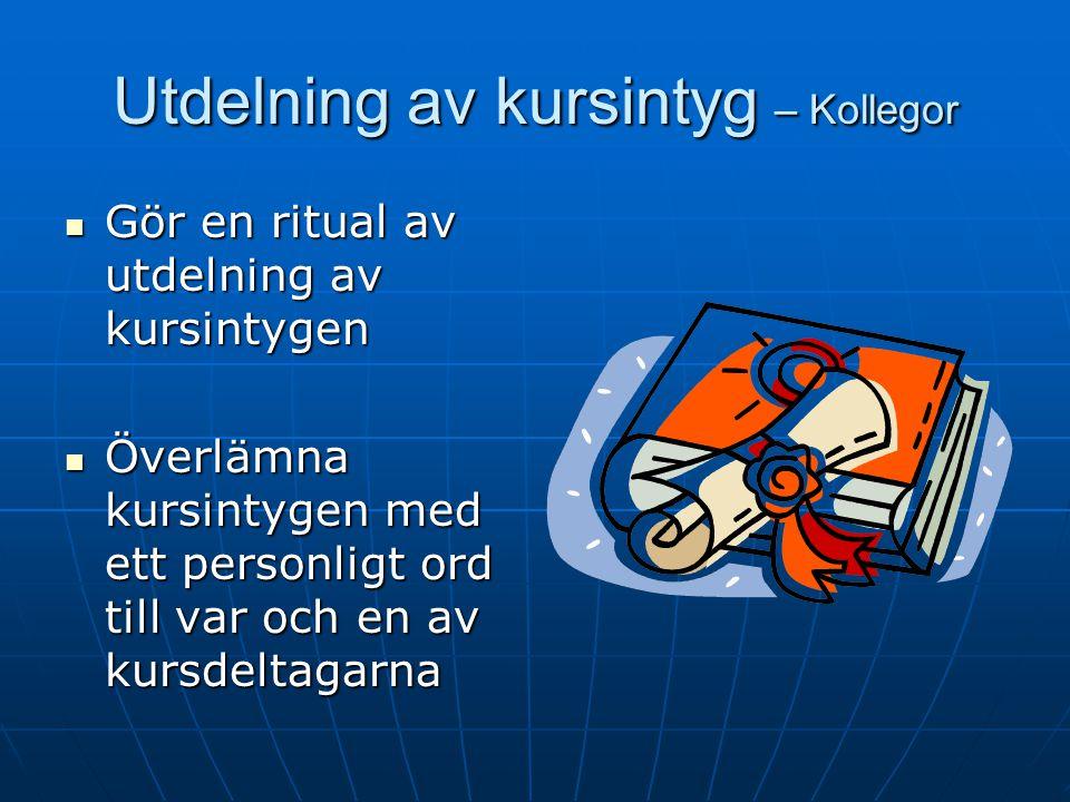 Muntlig kursutvärdering – Kollegor och klienter Utvärdering av kurs i Återfallsprevention.