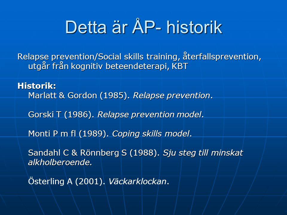Detta är ÅP- evidensstöd Till kollegor och klienter ÅP är en effektiv behandlingsmetod enligt den internationella behandlingsforskningen. Project Matc