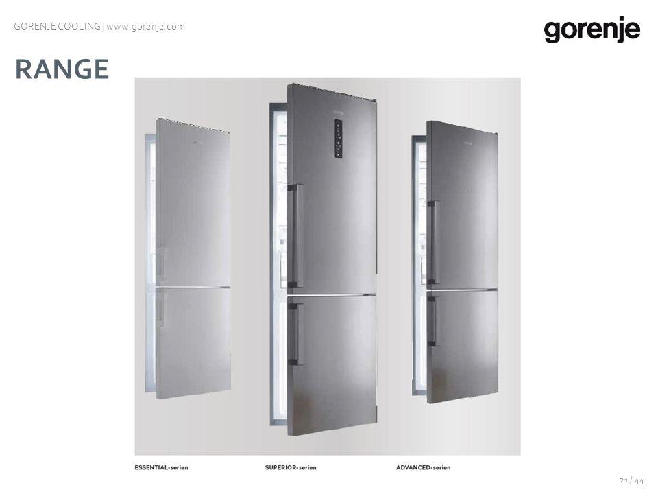 KYL-/FRYSSKÅP Nya generationen 20 / 44 GORENJE COOLING | www.gorenje.com